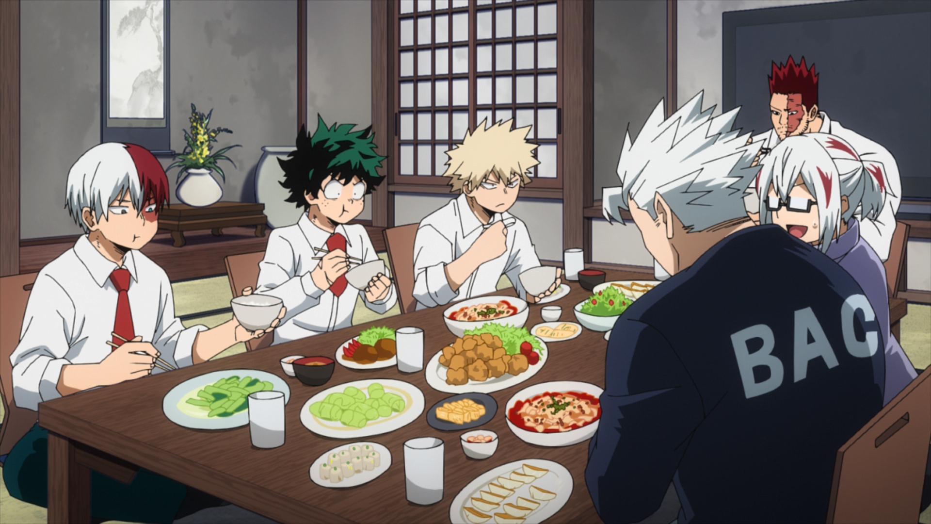 An awkward dinner at the Todoroki's