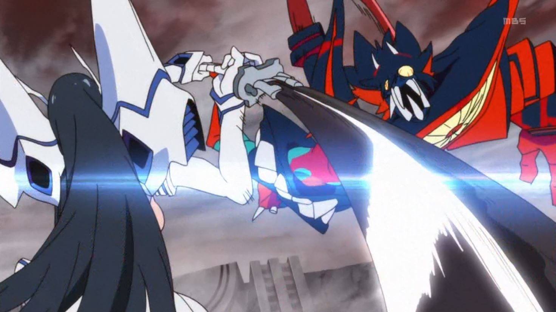 Satsuki Kiryuin battles an out of control Ryuko