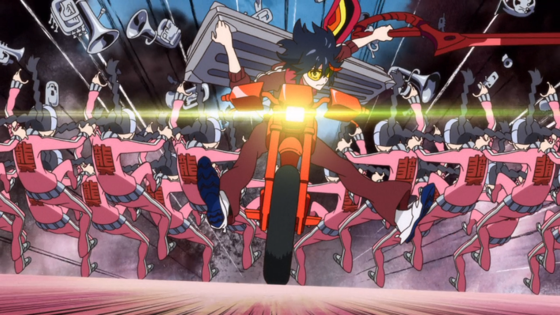 Ryuko retrieves the remaining pieces of Senketsu