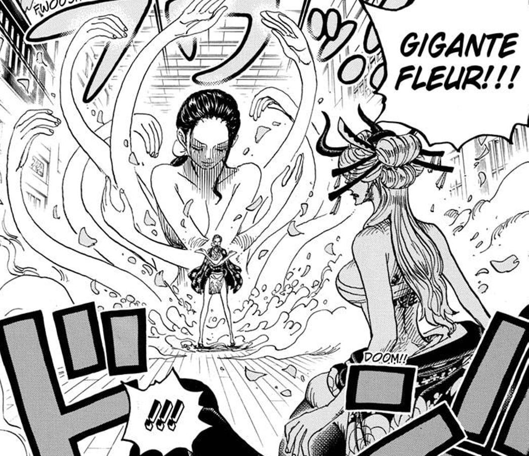 Nico Robin uses Gigante Fleur