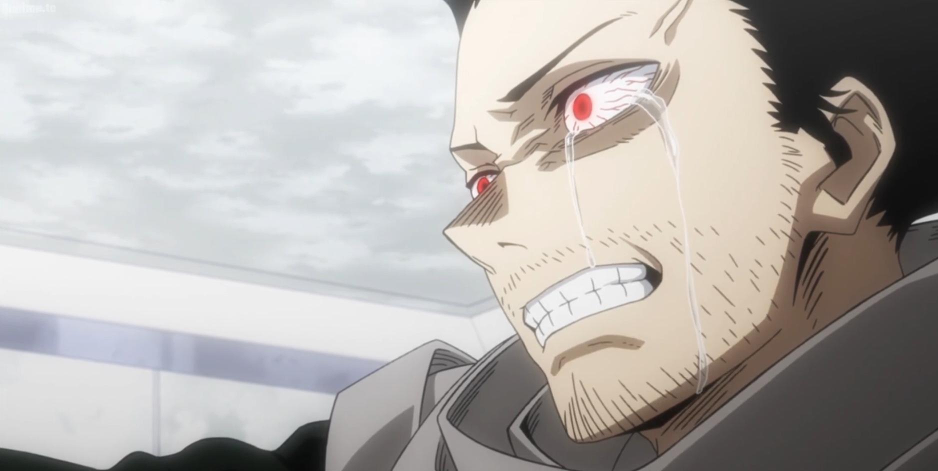 Shota Aizawa crying over Oboro